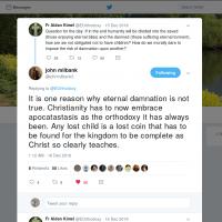 "John Milbank: ""Christianity has to now embrace apocatastasis as the orthodoxy it has always been."""